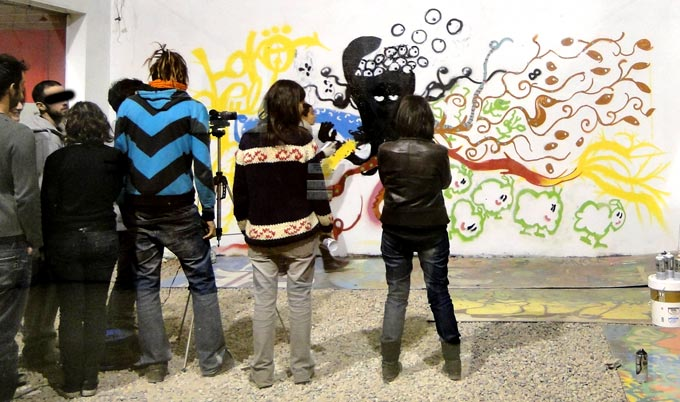 taller de graffite animado